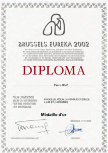 Medalia de aur - BRUSSELS EUREKA 2002
